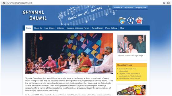 ShyamalSaumil.com Home page